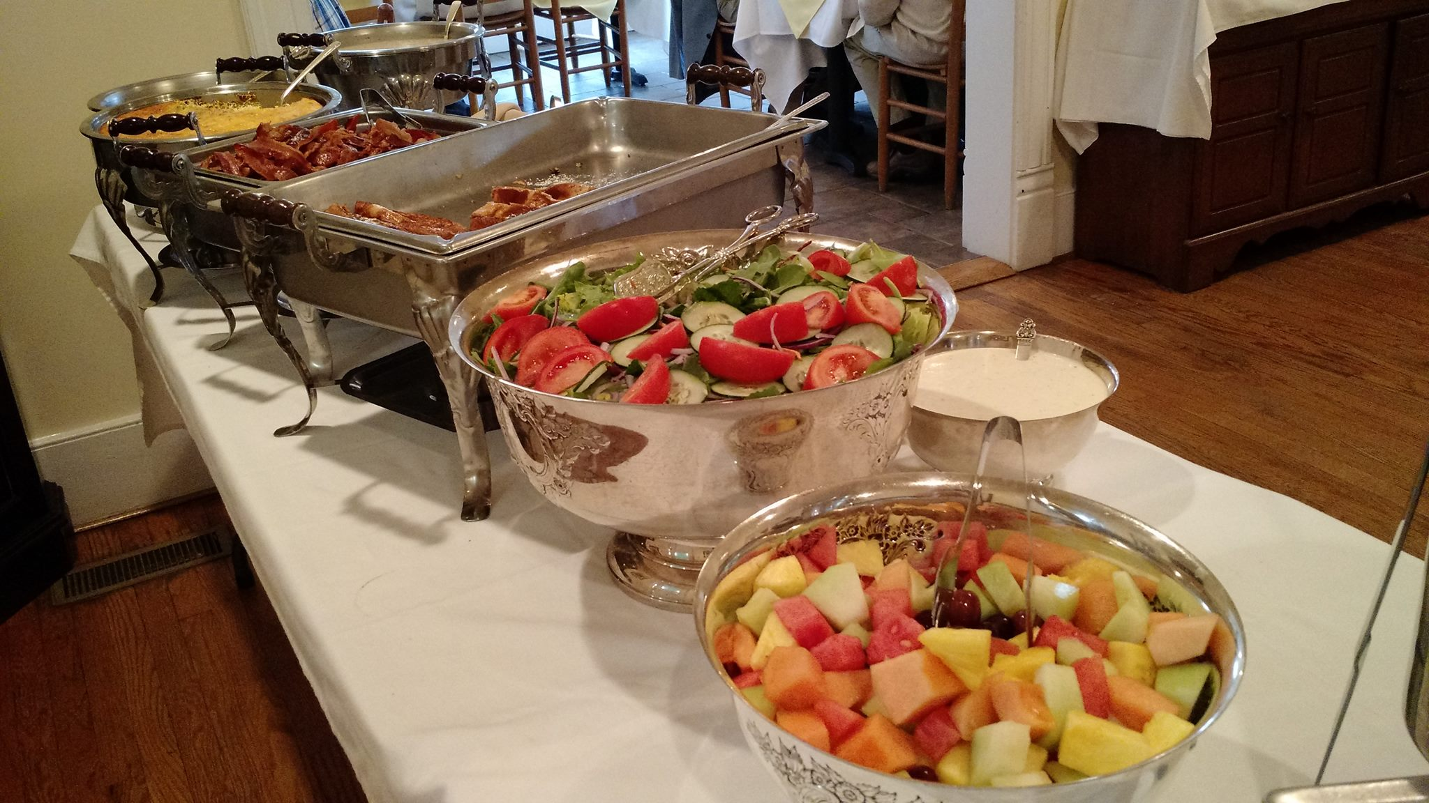 easter buffet @ the babcock house  April 1st at 12pm-3pm  250 Oakleigh Ave Appomattox, VA 24522  Tickets are $32/person, includes tax and tip and are required in order to secure a reservation. These can be purchased in person or over the phone at (434) 352-7532. They will have a seating at 12pm and one at 3pm..