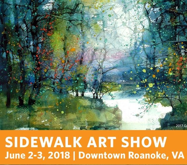 60th Annual Sidewalk Show - June 2nd-3rd | 10am-5pm Taubman Museum of Art: 110 Salem Ave SE Roanoke, VA 24011This annual benefit infuses downtown Roanoke with energy, excitement, and creativity. Join them as over 130 outstanding artists - many well-known and others recently discovered -display and sell the highest quality fine art and craft.
