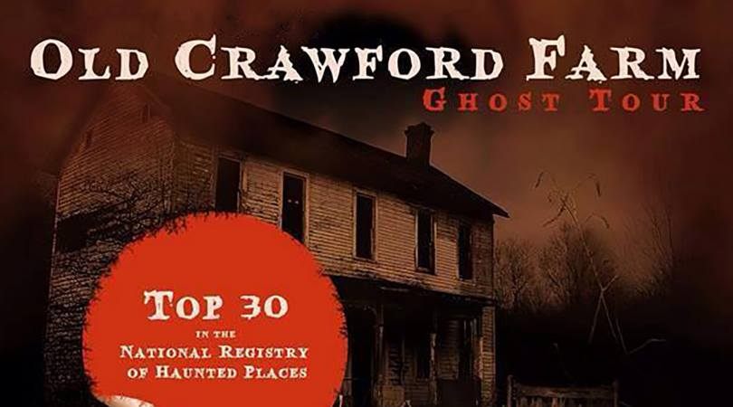 Old Crawford Farm Ghost Tour - October 25-27, 618 Country Club Rd, Appomattox, VANamed the most haunted location in Virginia and in the top 30 most haunted in the nation, this incredible true story of love, loss and one man's willingness to blur the boarders between life and death have haunted generations. Now, Wolfbane brings it all to life on the actual property where these events occurred. TICKETS MUST BE PURCHASED IN ADVANCE.