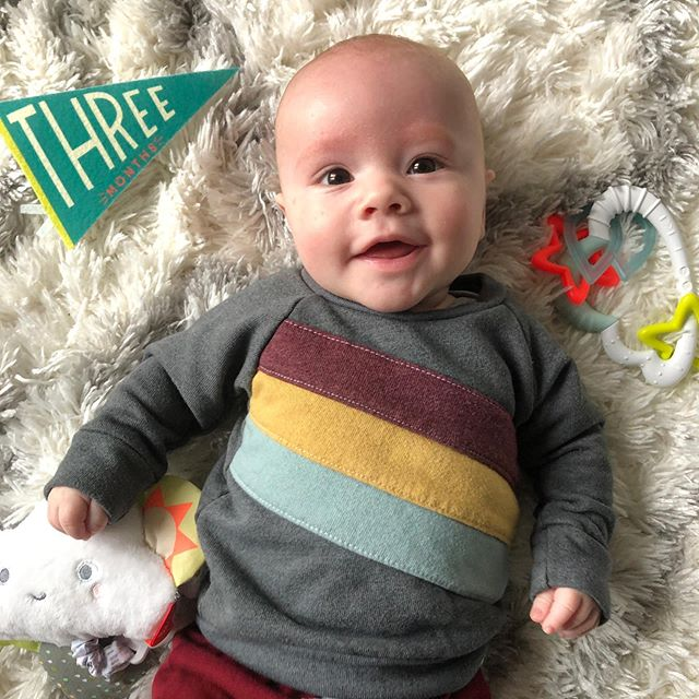 This little guy is three months today! Where has the time gone?? Glad to be his mom and glad to have @moser_james as my partner on this journey — it's been a blast!  #boymom #boymomlife #firsttimemom #mom #momlife