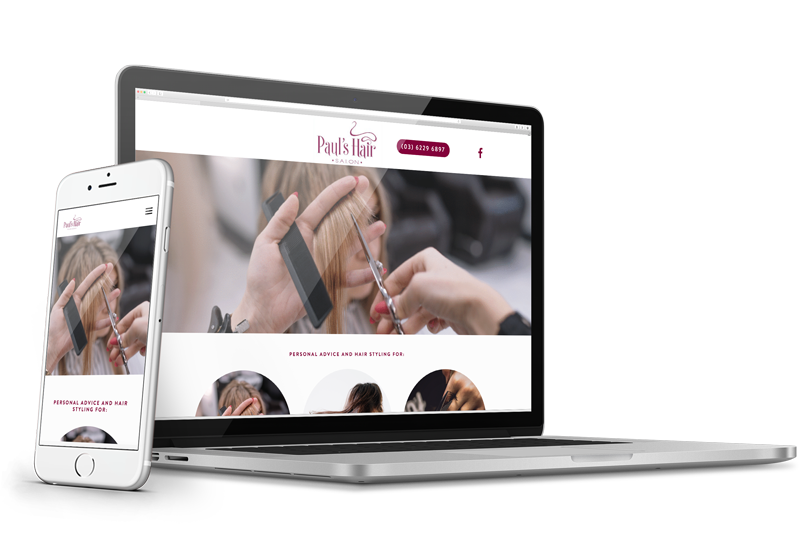 Paul's Hair Salon - One-pager website