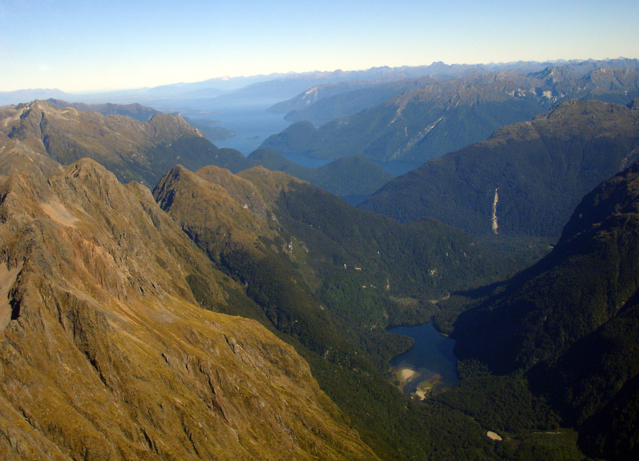 The rugged Murchison mountains in Fiordland National Park - where the takahe was rediscovered in 1948.  Image by Dan Nelson (CC BY-NC-ND 2.0).