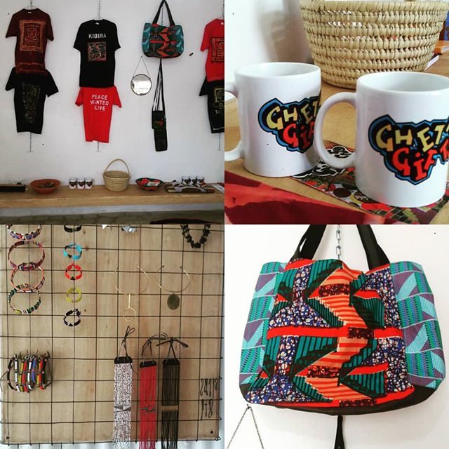 The Cup has started a gift shop in Kibera to create awareness of menstrual cups. Ghetto Gifts is a new kind of tourist shop with artefacts locally produced by ghetto artists, musician's and designers all around Nairobi. You can find art t-shirt, baby sandals, CD from musicians, Jewelry, bags and more. The idea was born on a sunny day with Fahruq, Johan, Mbuthia, Solo7 and Sigh three years ago in Karen.  It has developed into a: 1. A tourist shop that is managed by The Cup staff.  2. Co-operation with artists in different Ghettos to develop unique objects.  3. Percentage of sales goes to The Cup.org.  4. Tourists can visit a typical shopping street in Kibera slum and meet and chat with people in neighborhood.  5. Visitors can learn about how The Cup program helps and we work.  6. Learn about menstrual cups and how to use.  7. Visitors can donate a cup to a girl Come visit @ghettogifts to find your #gift and support the cup. #girlpower #menstruation #menstrualcup #dayofthegirlchild #menstruationmatters #menstrualhealth #localartist #artist #ghetto