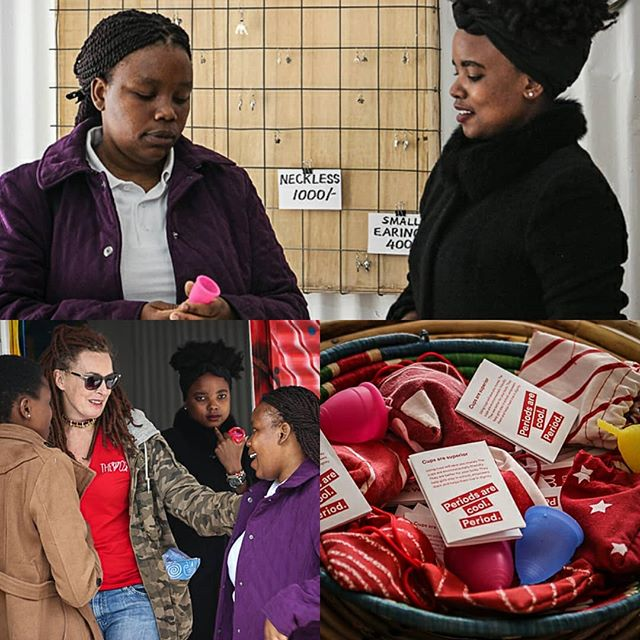 Thsoganesto from The Woman Shelter in Botswana, an organisation that provides shelter for women and children faced with domestic violence visits Ghetto gifts. Thsoganesto is in Nairobi to prepare a co-operation with The Cup in Botswana this fall where girls and boys are going to be reached with the cup program and menstrual cups are going to be distributed. #lunette #menstrualcup Photo by: @atieno_muyuyi