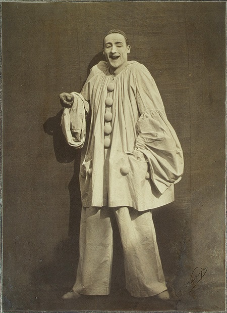 Pierrot Laughing ,  1855 Photograph of Charles Duburau, Nadar (1820- 1910)