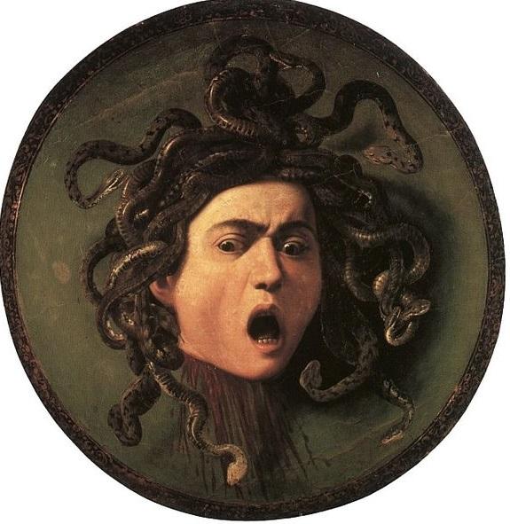 Michelangelo Merisi Caravaggio (1571-1610), Medusa  (1597)