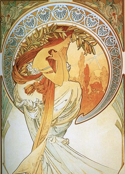 Alphonse Mucha (1860-1939), Poetry  (1898)