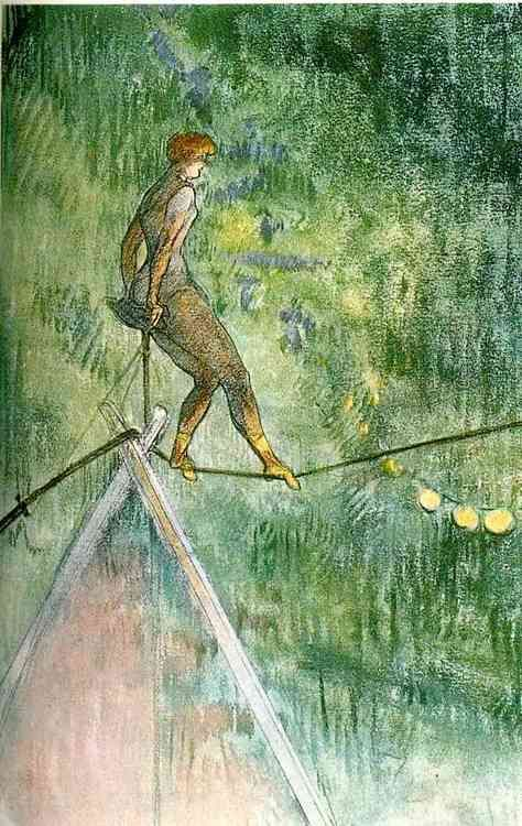 Henri de Toulouse-Lautrec (1864-1901),  The Tightrope Walker (1896)