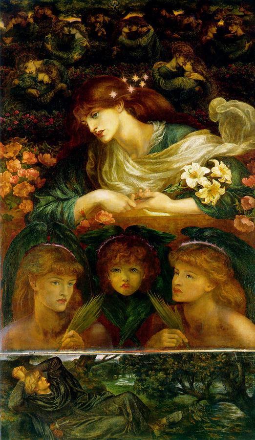 Dante Gabriel Rossetti (1828-1882) , The Blessed Damozel (1878)