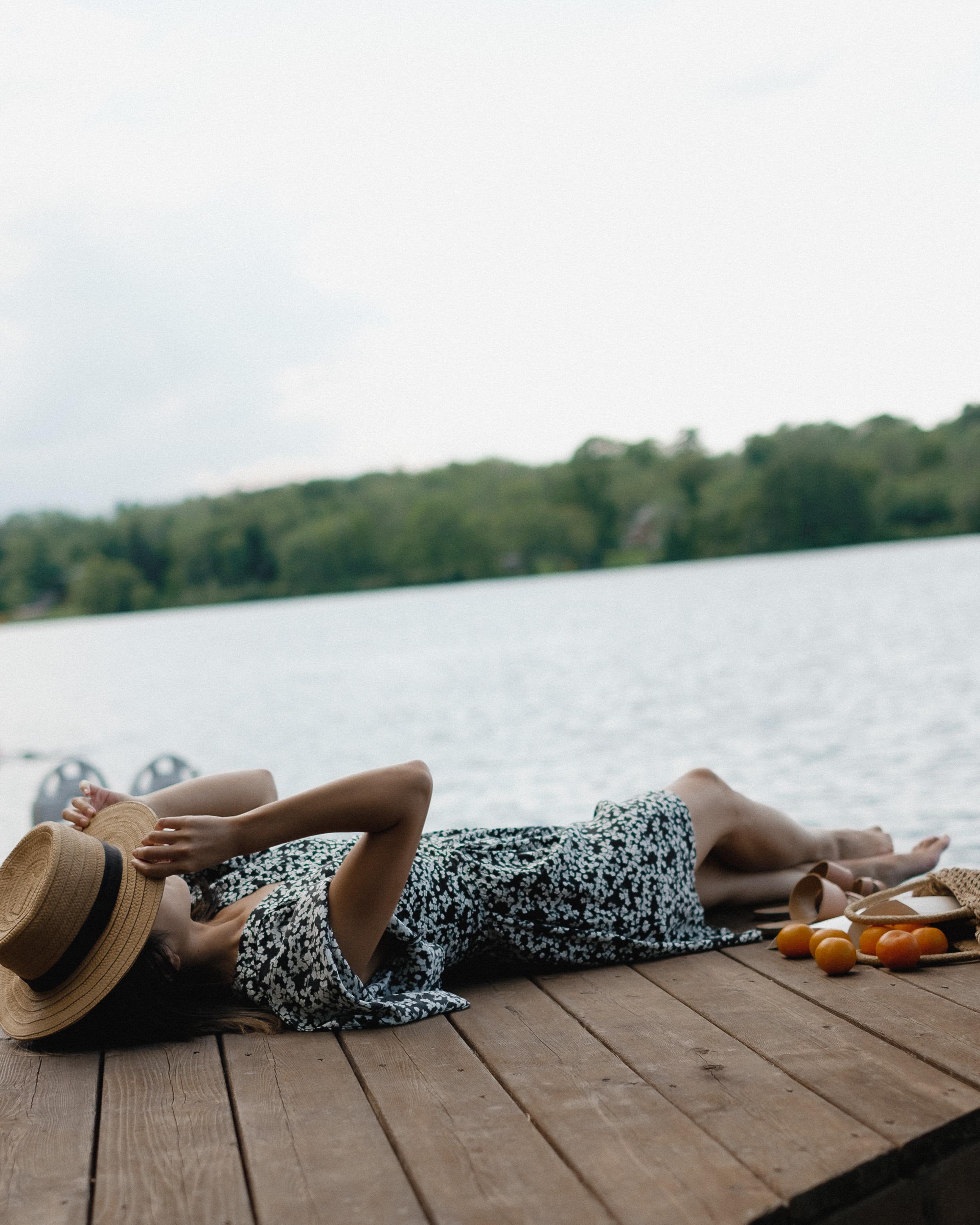 Wearing: dress from  Sylvie & Shimmy  (similar below), hat from Nordstrom (old, similar below)