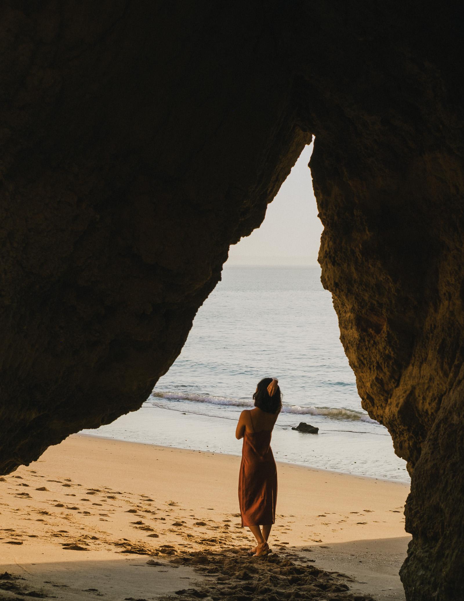 Wearing Aritzia  dress (similar  here ) at sunrise.