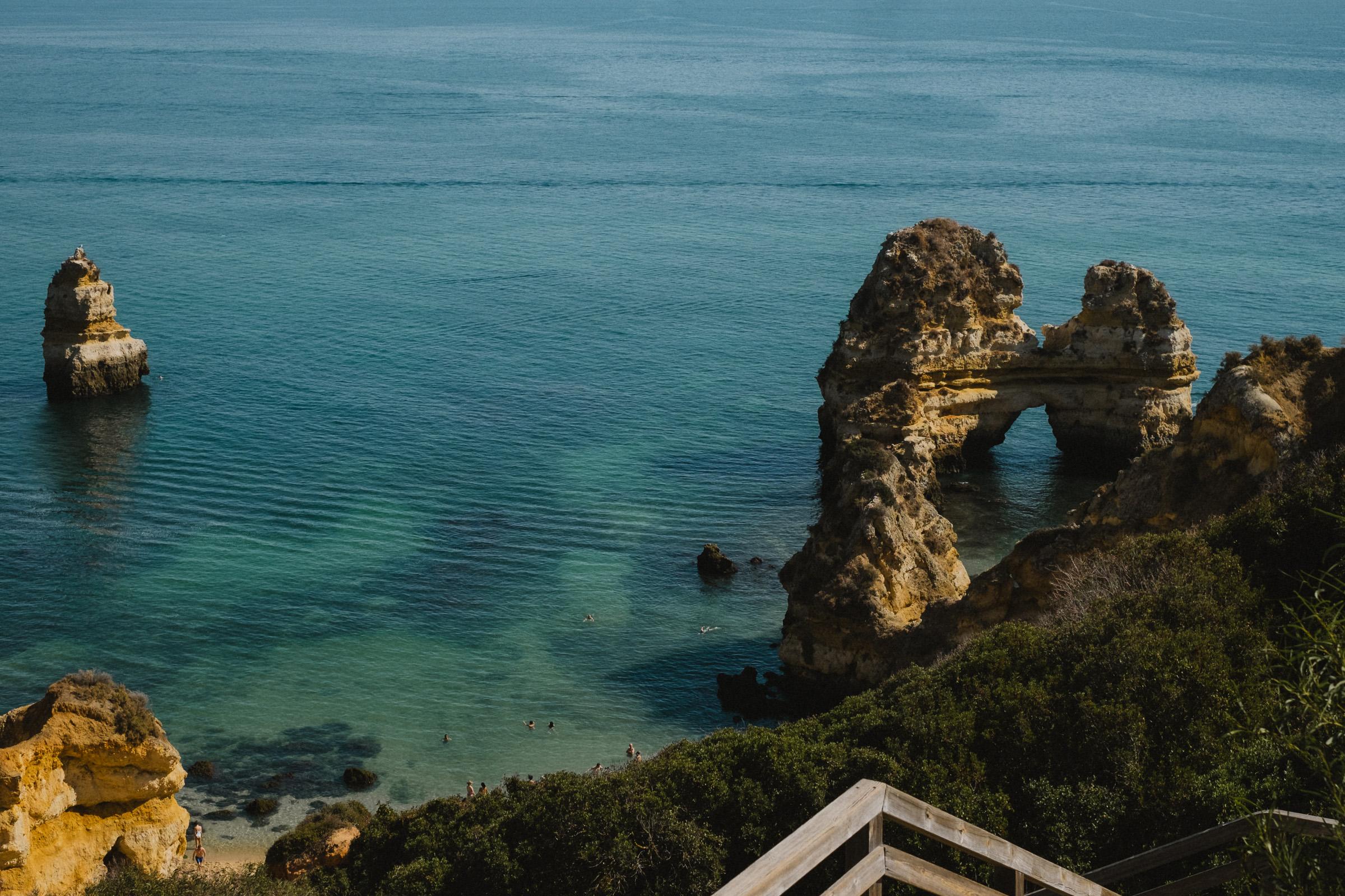 Looking over Praia do Camilo.