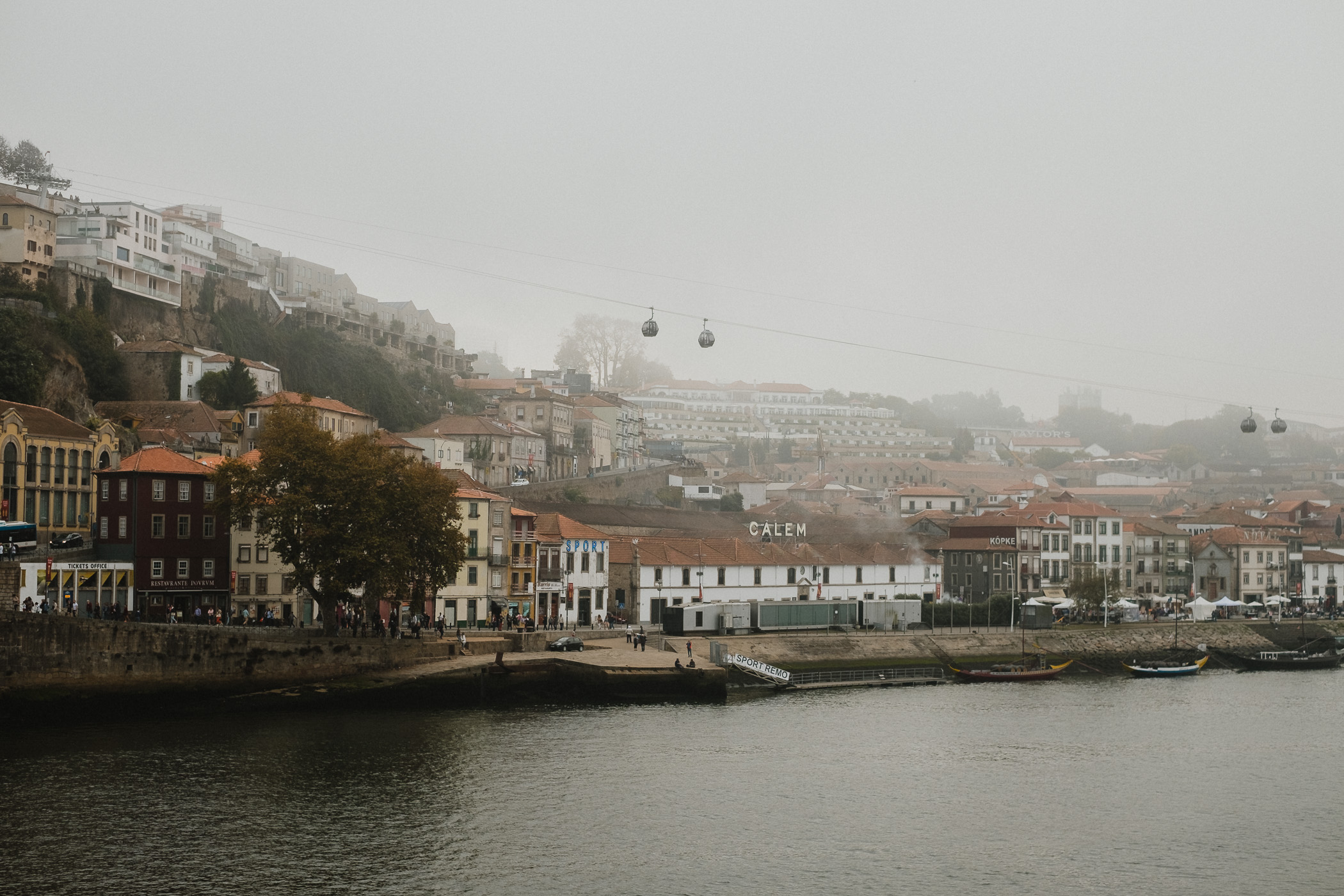 Looking across the Douro, where Porto's infamous wine cellars are located.