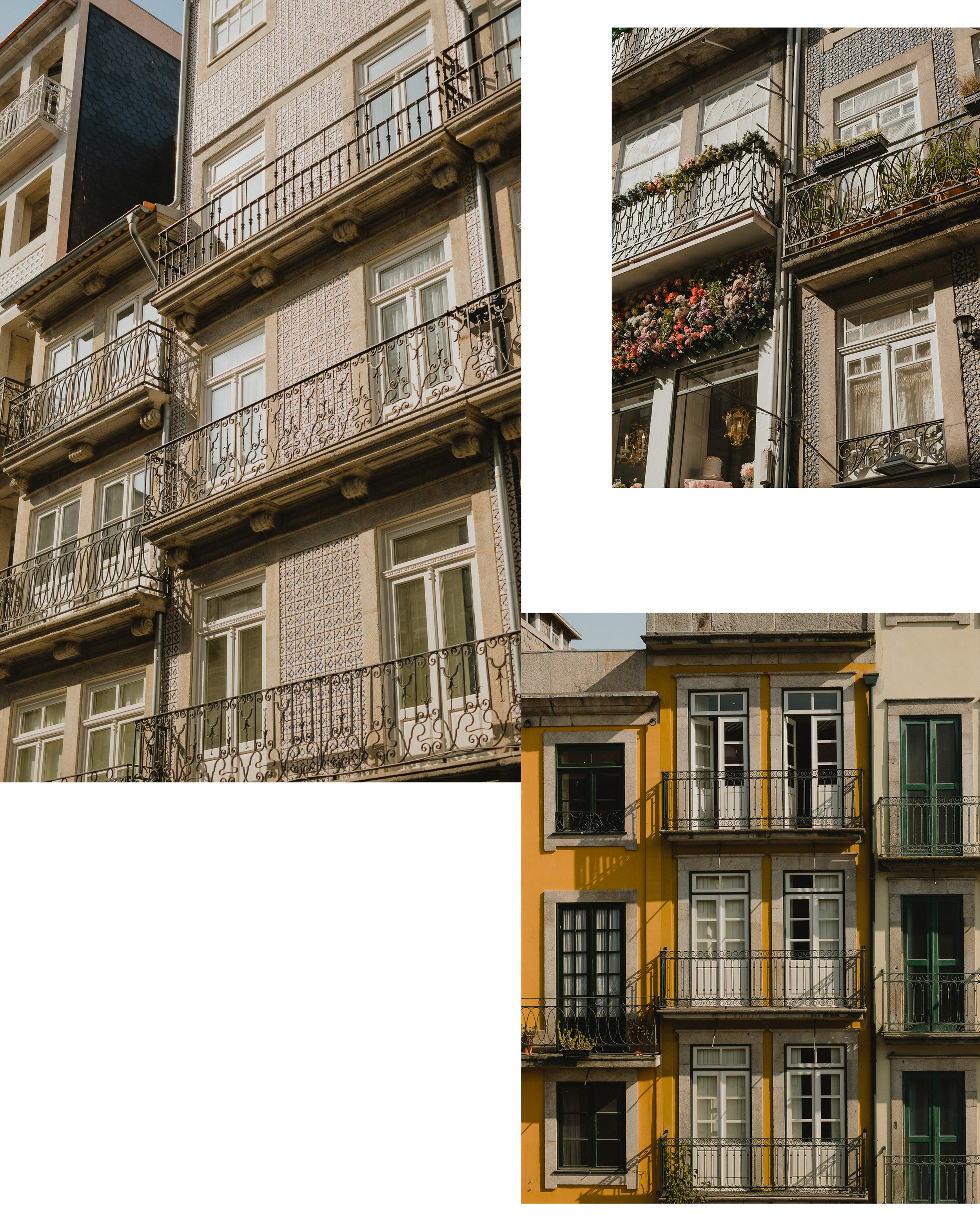 Above:  the many facades of Porto.