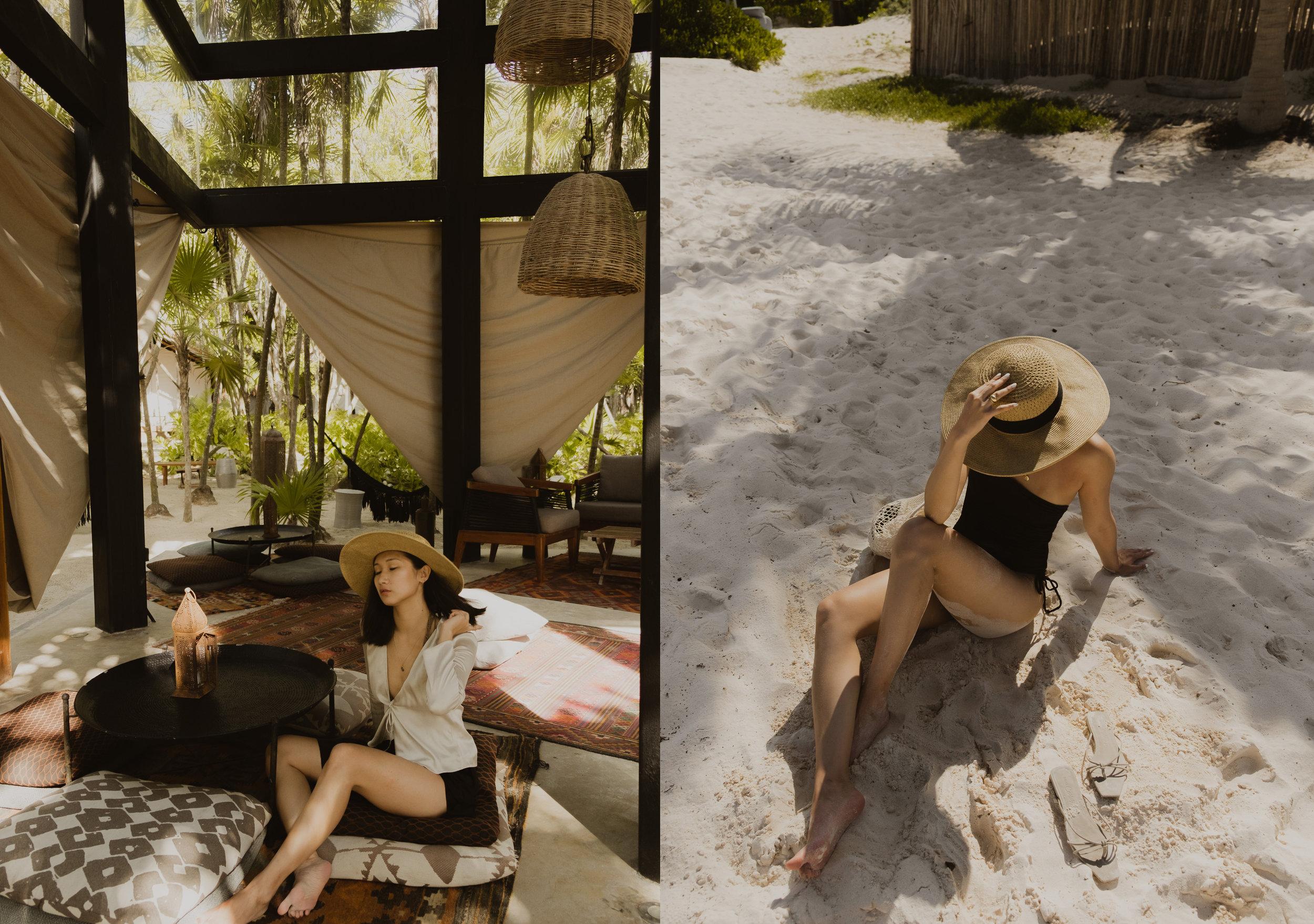 Hanging out in Habitas Tulum.