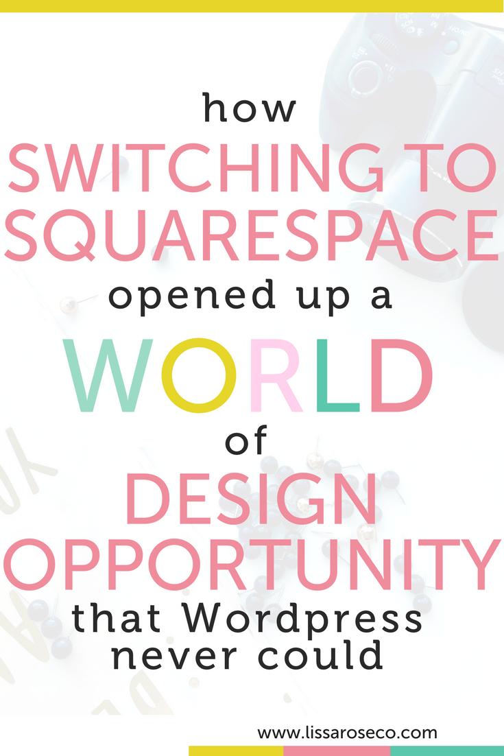 Lissa Rose Co Wordpress vs Squarespace Web Design