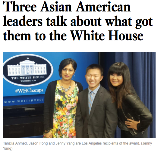 Three Asian American Leaders Talk About What Got Them To The White House| LA Times   (May 2016)