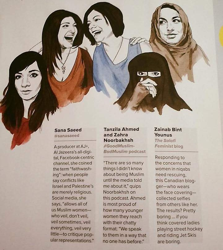 5 Women Quashing Preconceptions About Islam on Social Media | Wired   (Dec. 2015)