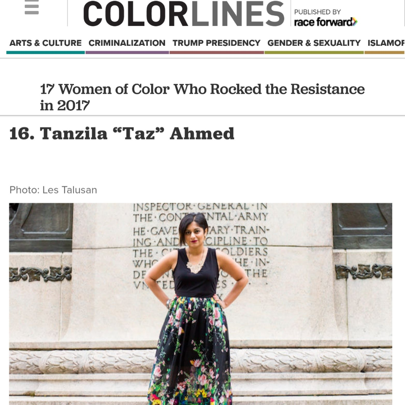 17 Women of Color Who Rocked the Resistance in 2017 | Colorlines   (Dec 2017)