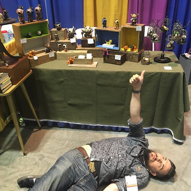 Convention over! Big thanks to the many many people who came by the table this weekend. And now, sleep.