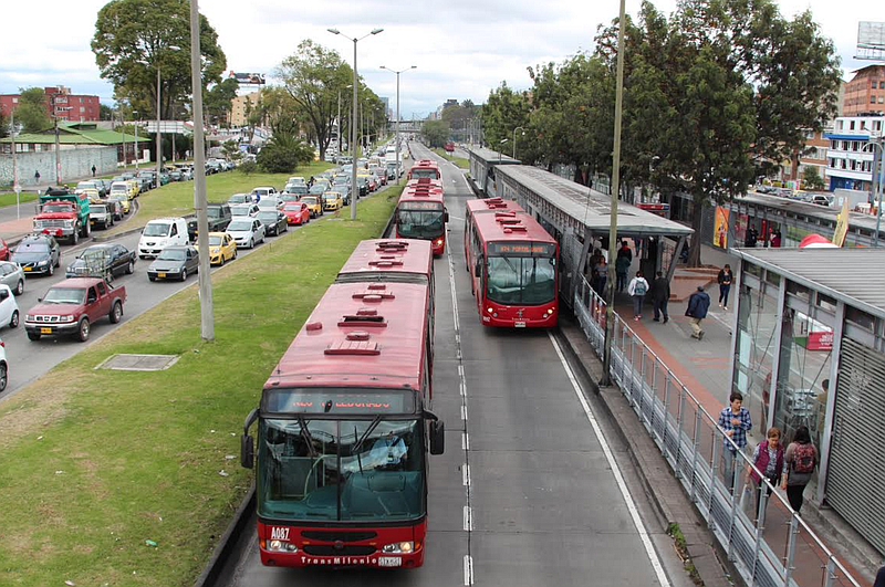 Transmilenio in Bogotá. Photo by Lorne Matalon