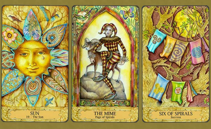 a reading from the Chrysalis Tarot; lovely as this was, we did not vibe at all
