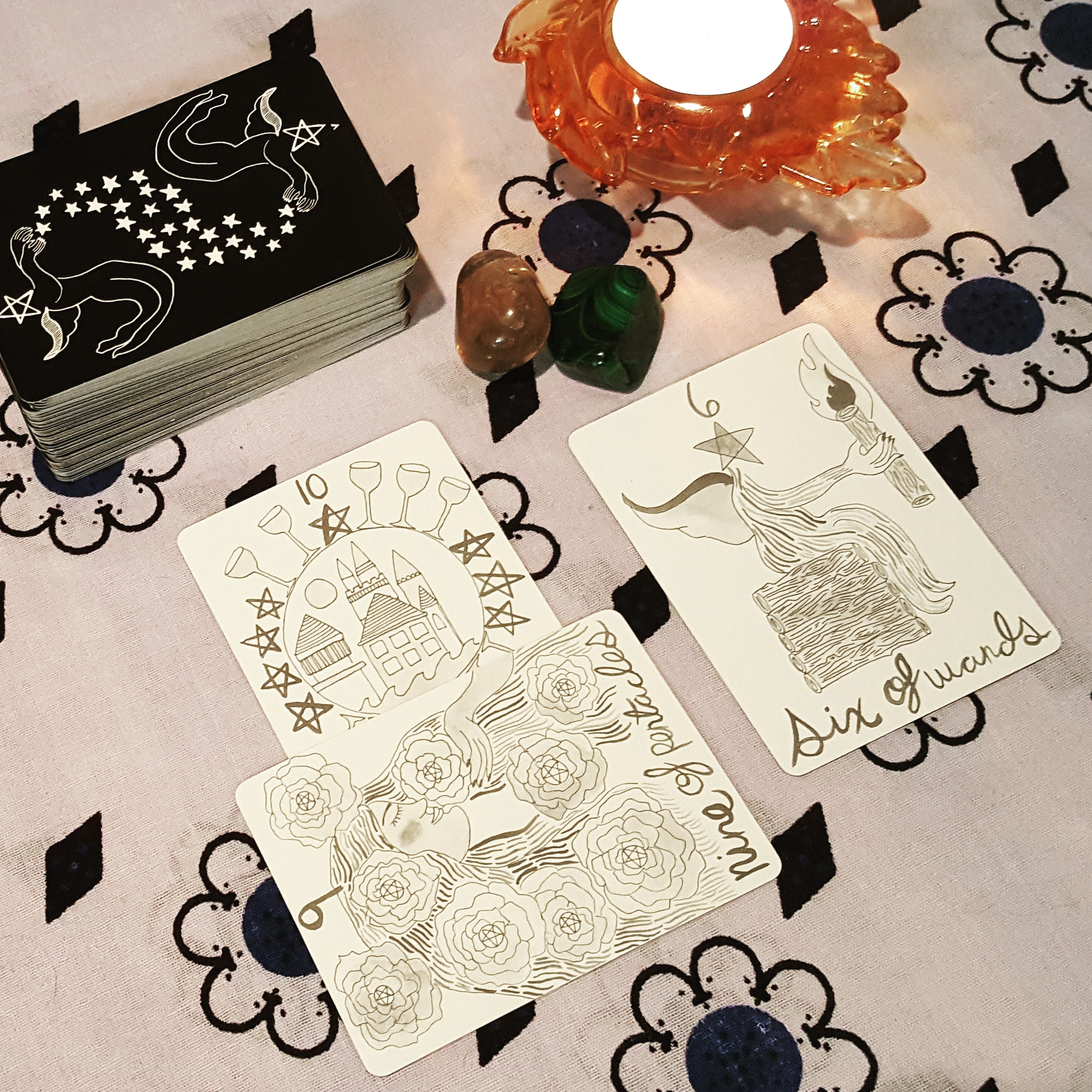 My 3 Cards to the Heart reading with the Divina Tarot