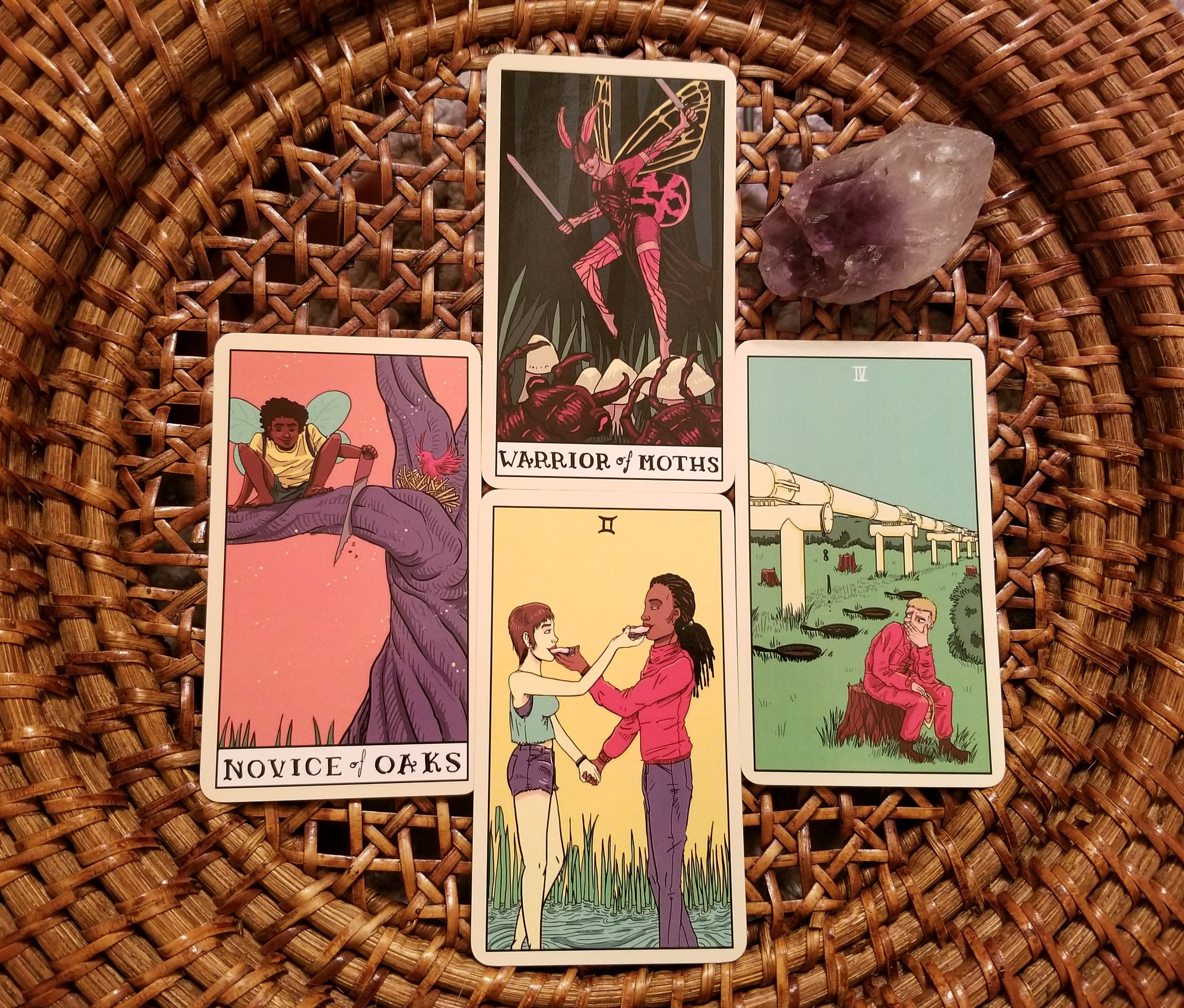 Restwork Spread with the Delta Enduring Tarot