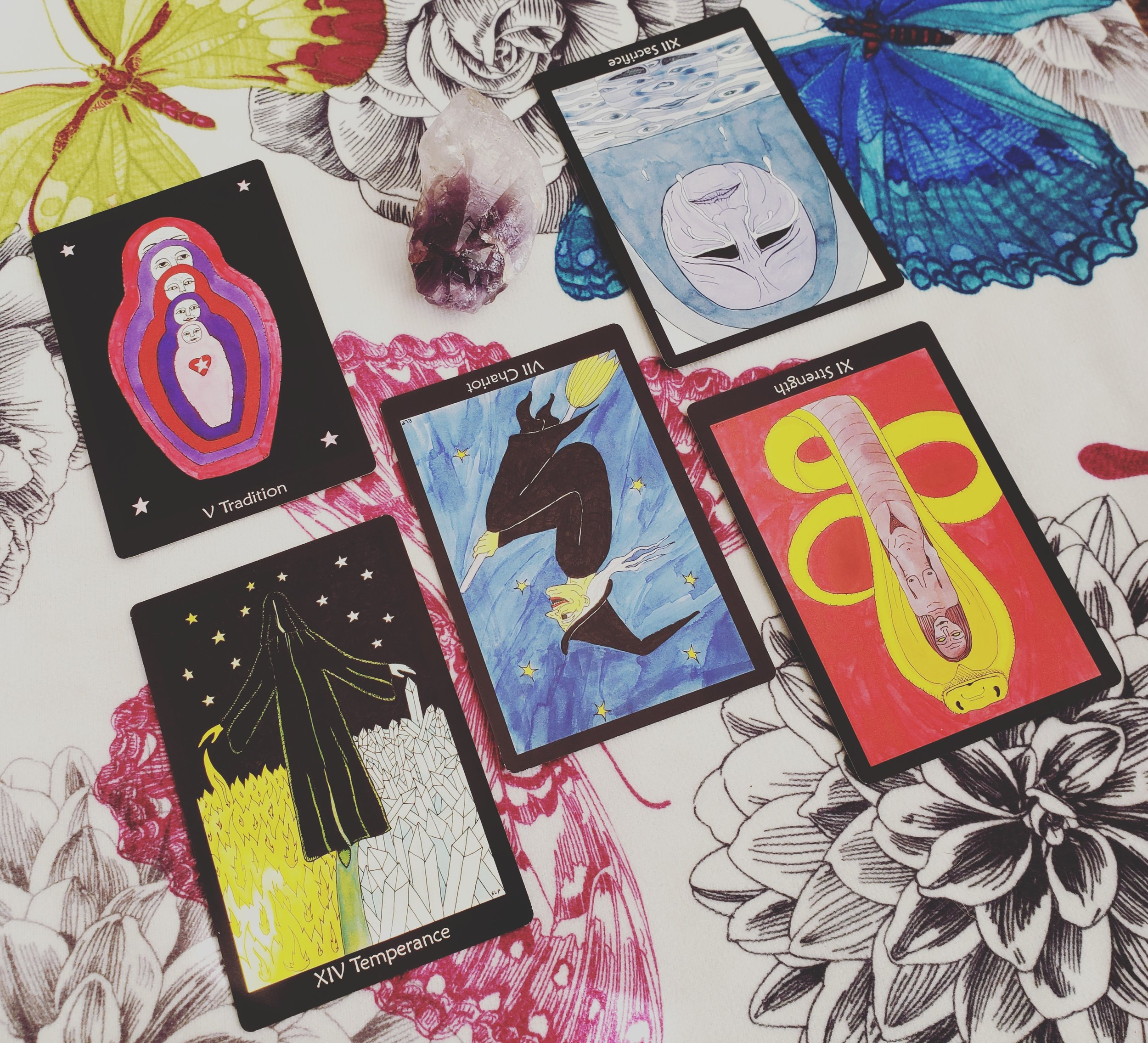New Moon in Pisces reading with the Tarot of the Crone