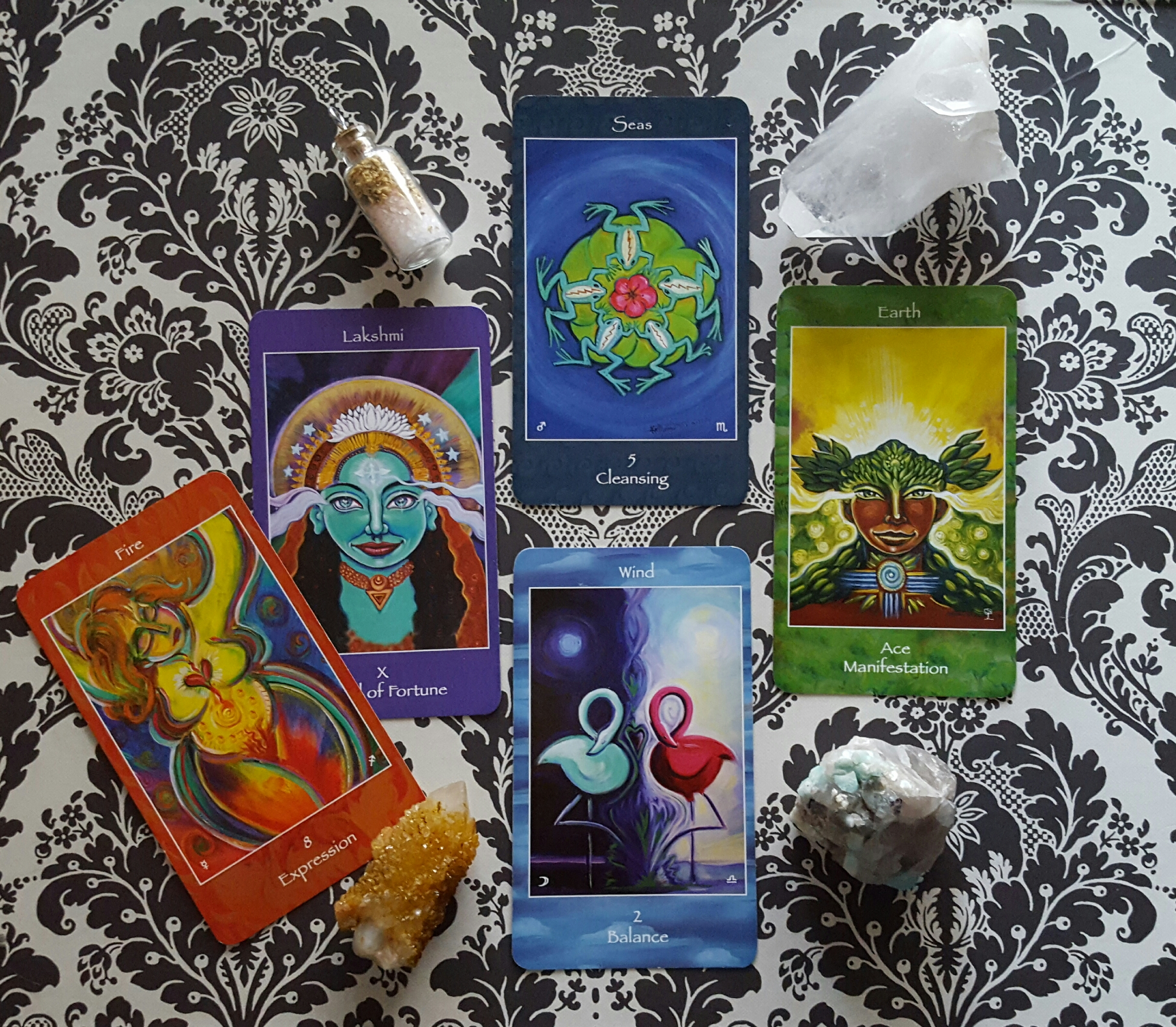 some lovelies from the Mythical Goddess Tarot