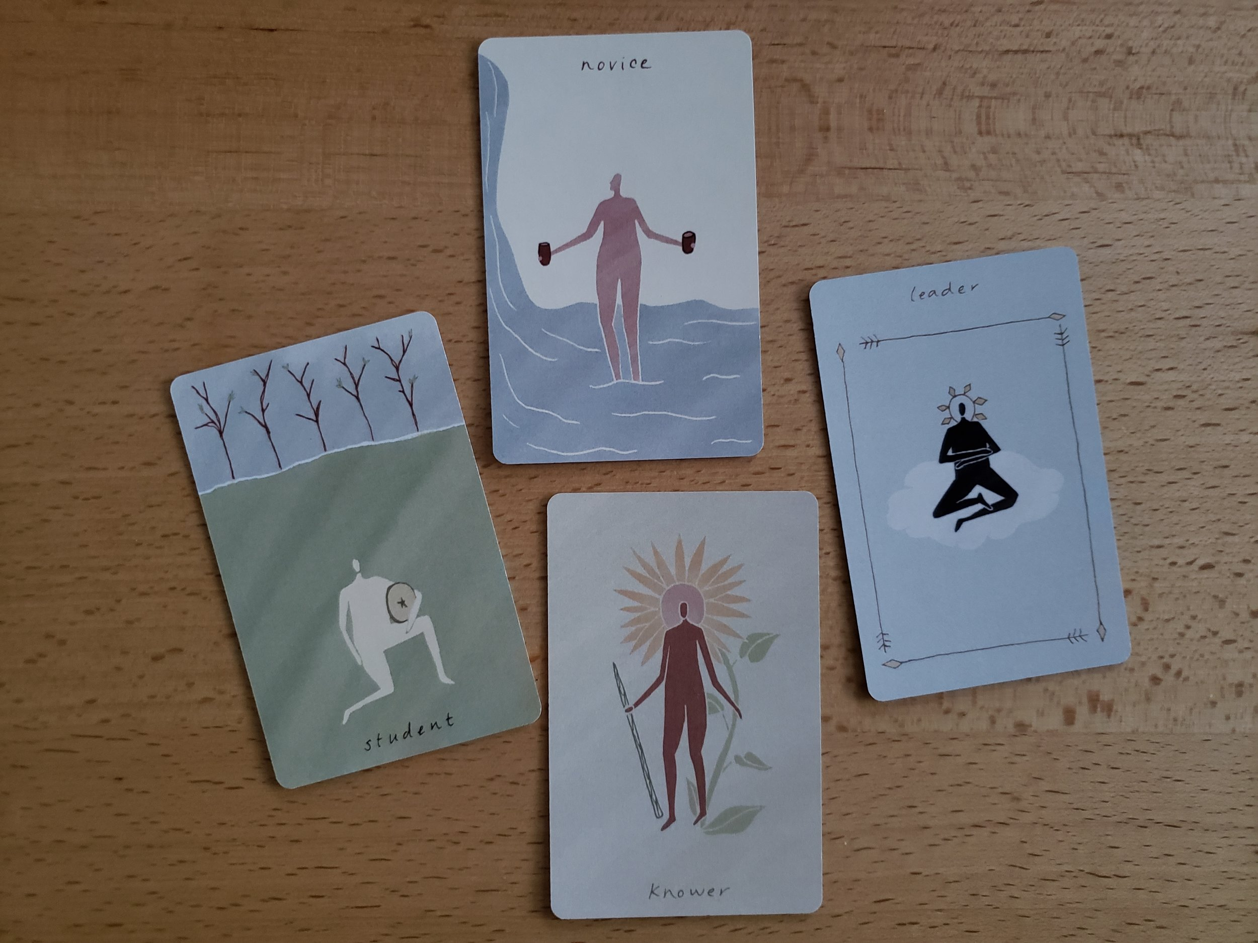 court cards from the Mesquite Tarot