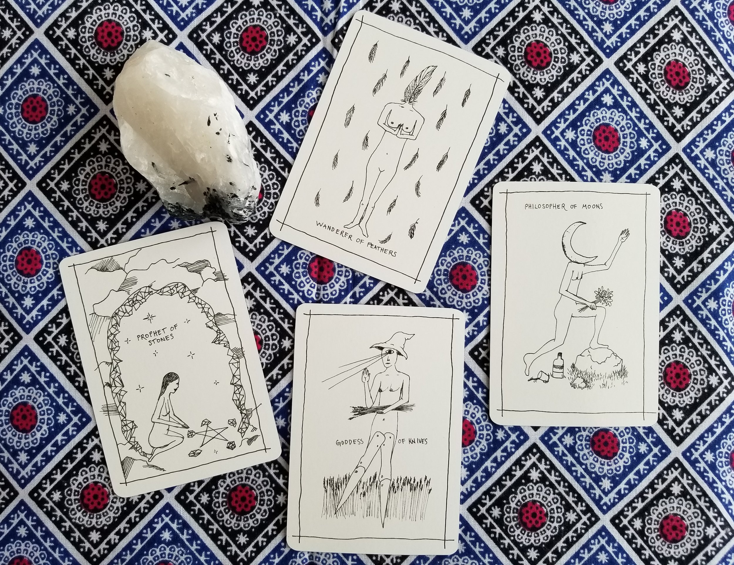 Court Cards from the Solar Wanderer's Tarot