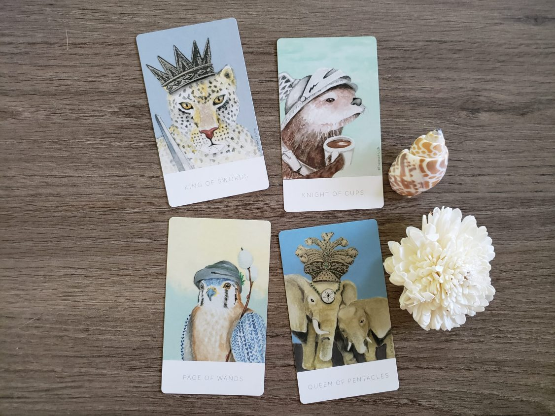 Court Cards from the White Sage Tarot