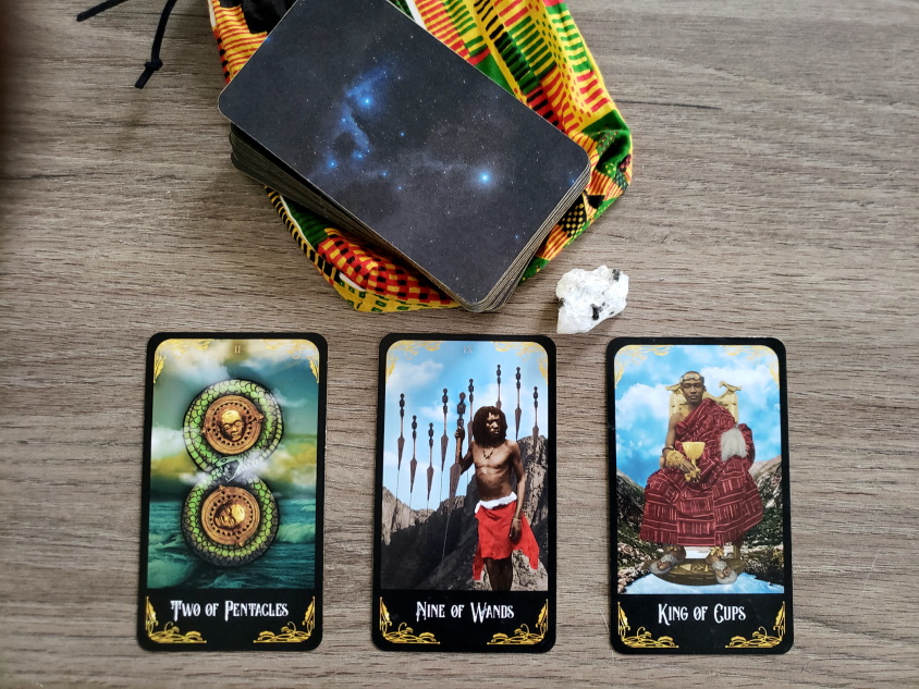 reading from the Afro Tarot