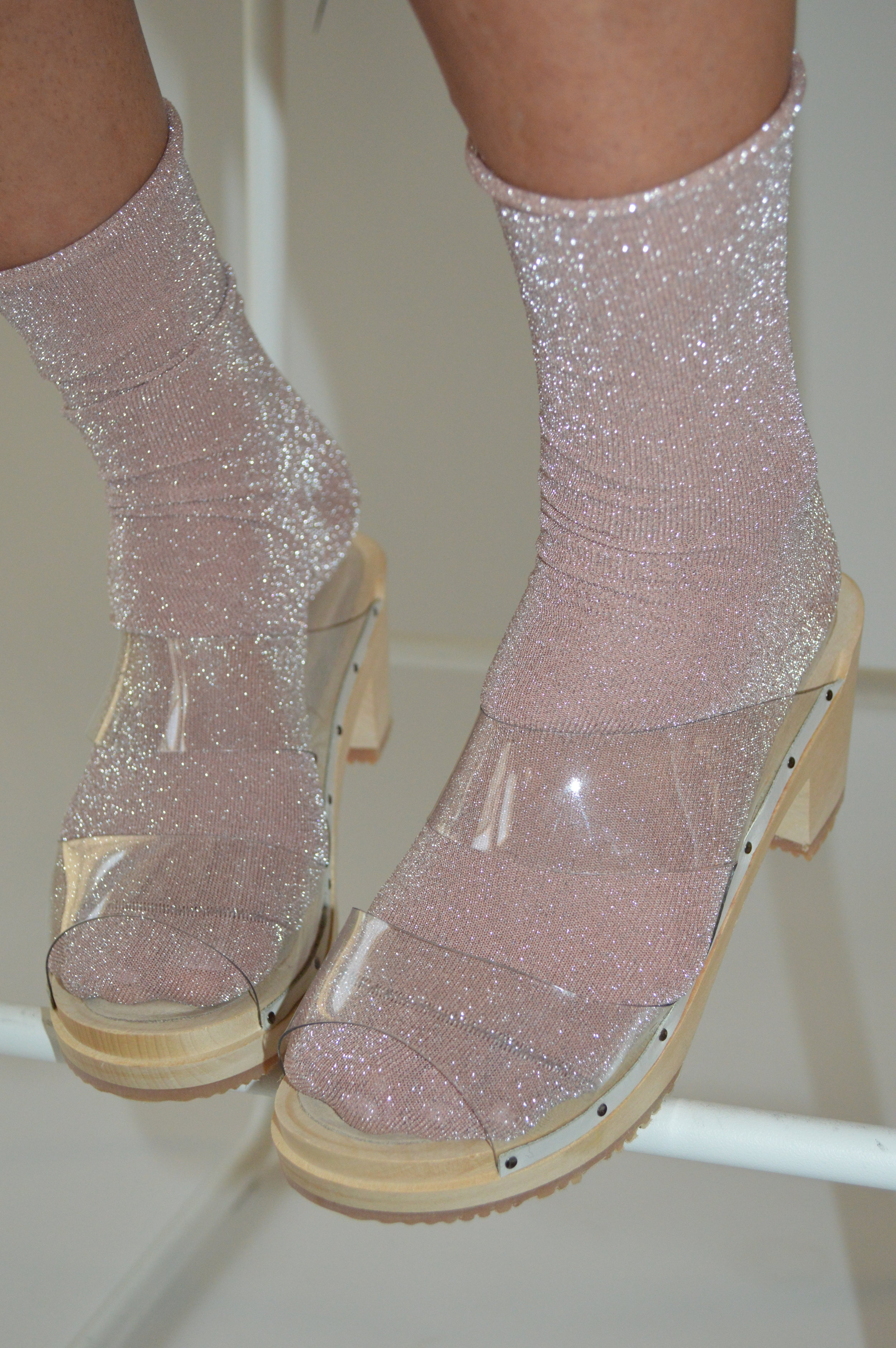 FOR YOUR IRL BFF - The Crystal Clog; imagine the nights out you could have in these... (and you know she'll let you borrow them)