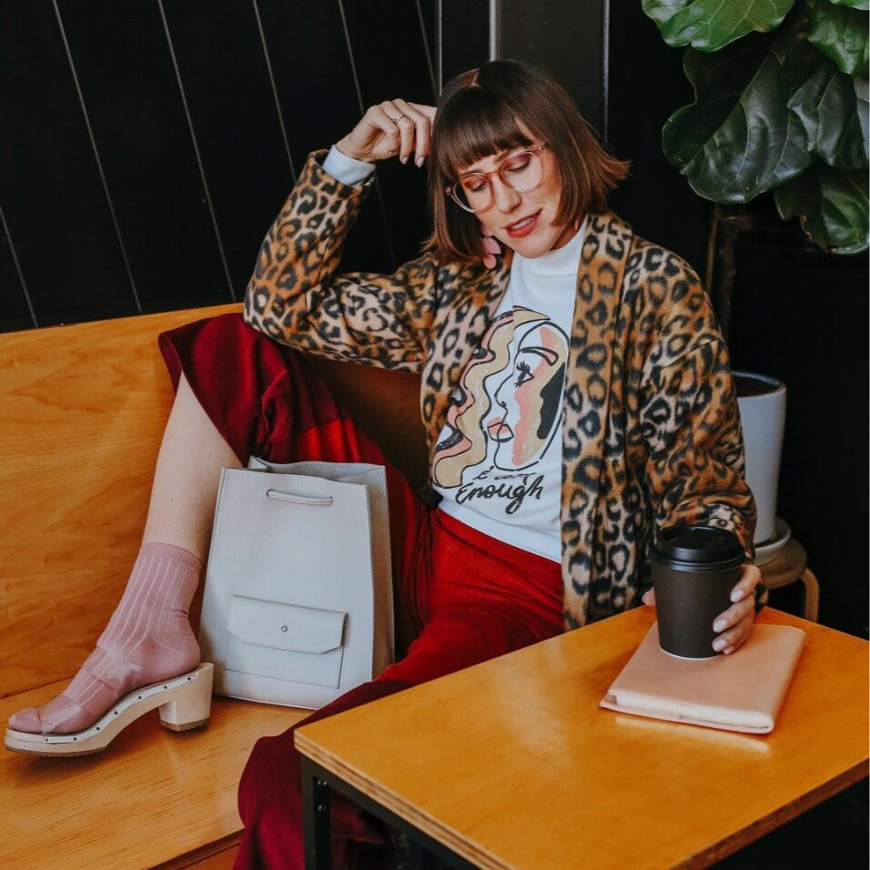 @danidazey - Luxe prints, saturated colors and cozy socks.