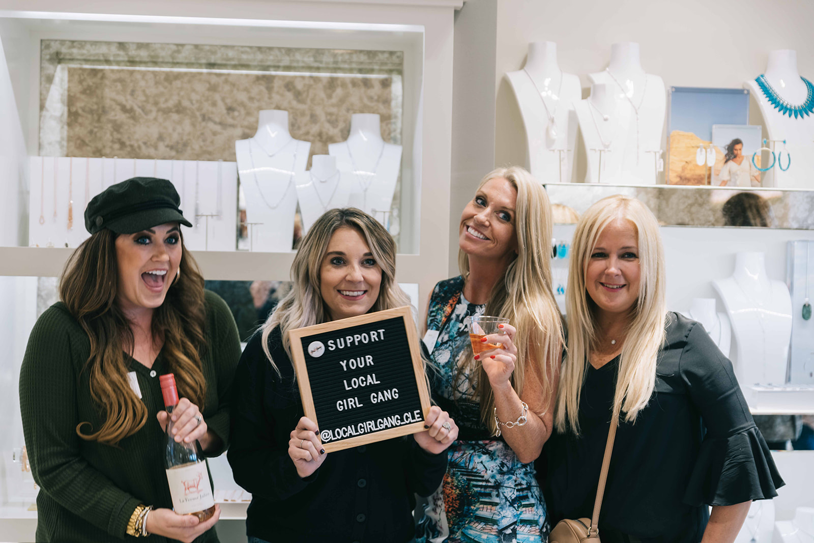 Appetizers & drinks were provided while Girl Gang members networked and shopped with one another.  Photo by Anita Louse Photography.