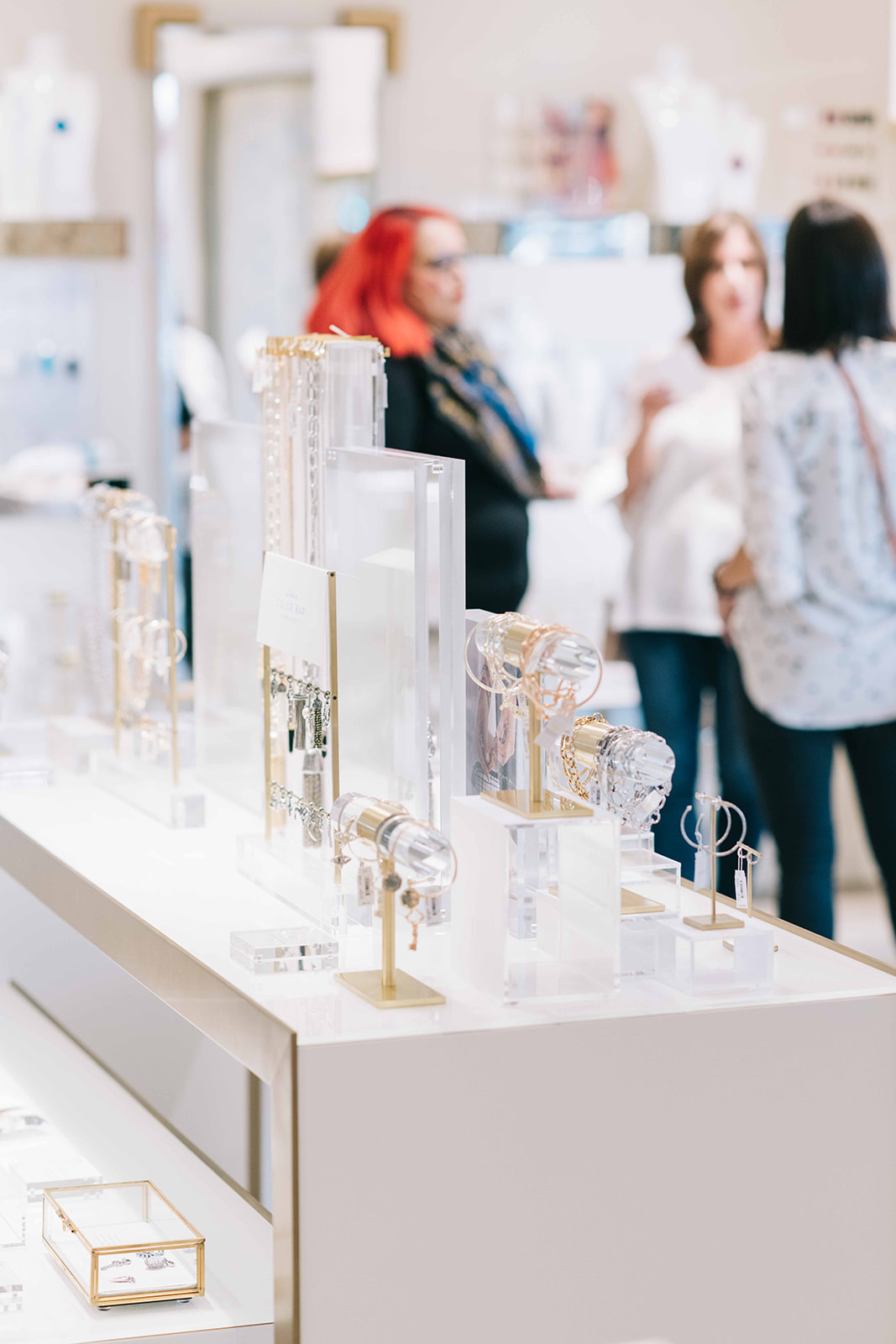 Jewelry that was available for purchase while members shopped and networked in the Kendra Scott store.  Photo by Anita Louise Photography