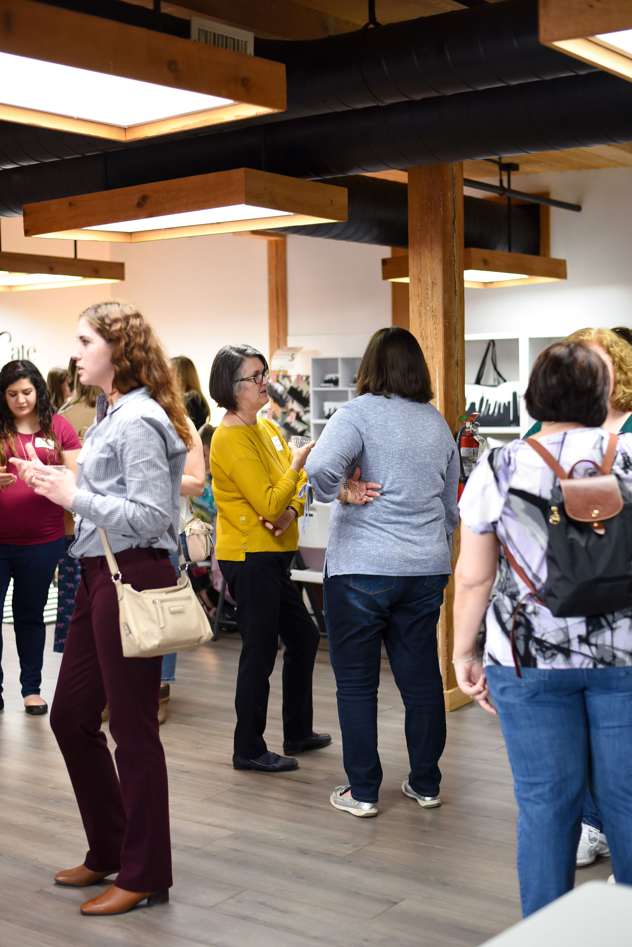"""Networking"" is always more fun with the Girl Gang.  Photo by Stephanie Penick Photography."