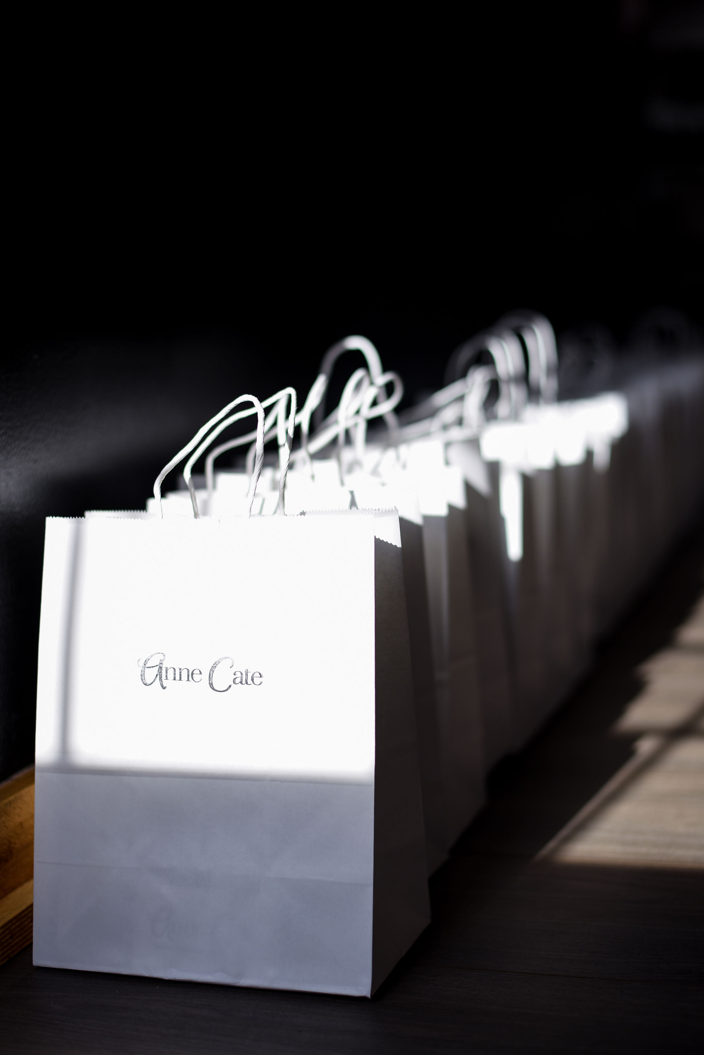 Anne Cate goodies waiting to be collected by guests.  Photo by Stephanie Penick Photography.