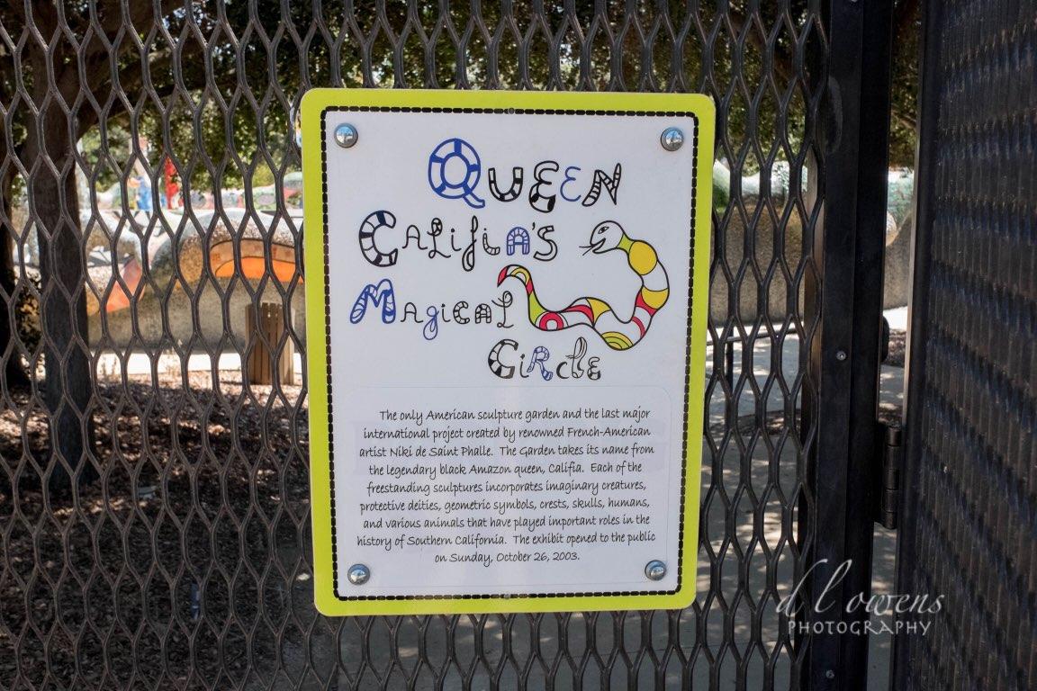 Queen Califia magical circle by French American niki de saint phalle chose to sculpt the legendary black queen Calafía in Escondido (hidden), California