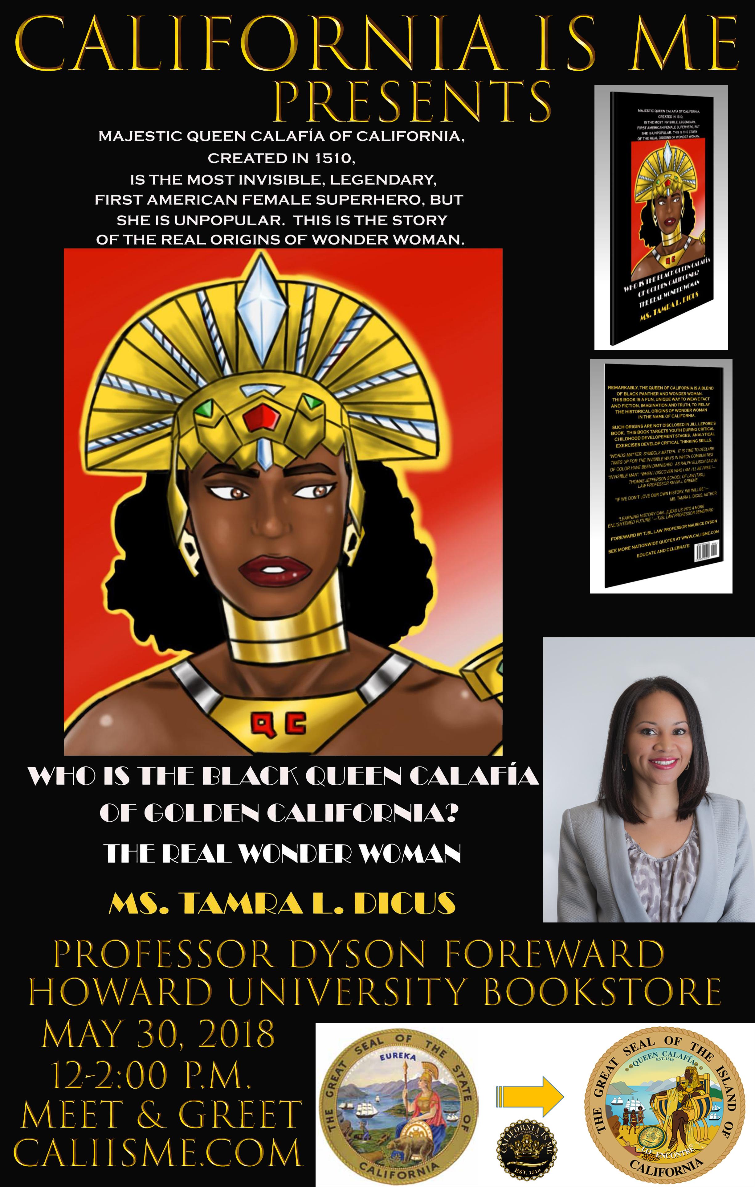 poster who is black queen calafia book HU flyer Book sigining.jpg