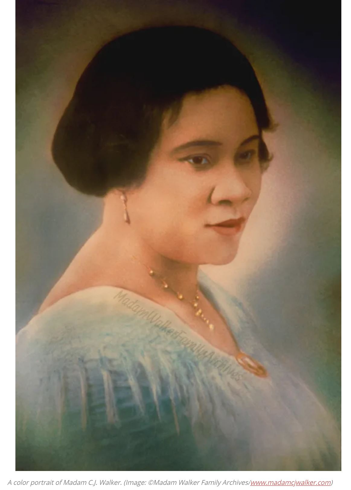 For more background on Madame C.J. Walker, click ( here ).