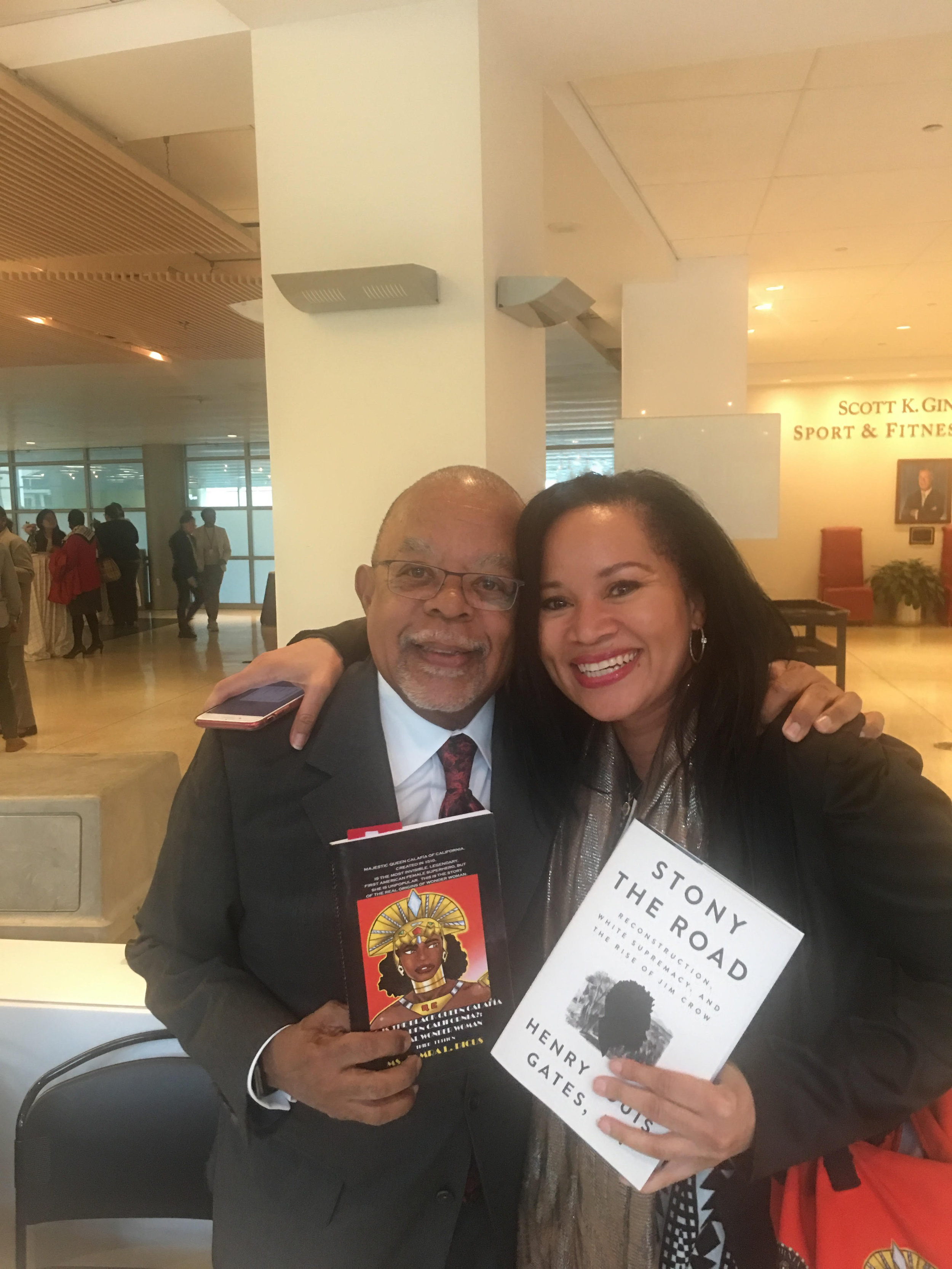 May 14, 2019 Authors Harvard Professor Henry Louis Gates, Jr. and CALIFORNIA IS ME Founder, Tamra L. Dicus at Georgetown Law, Washington, D.C. Source: CALIFORNIA IS ME