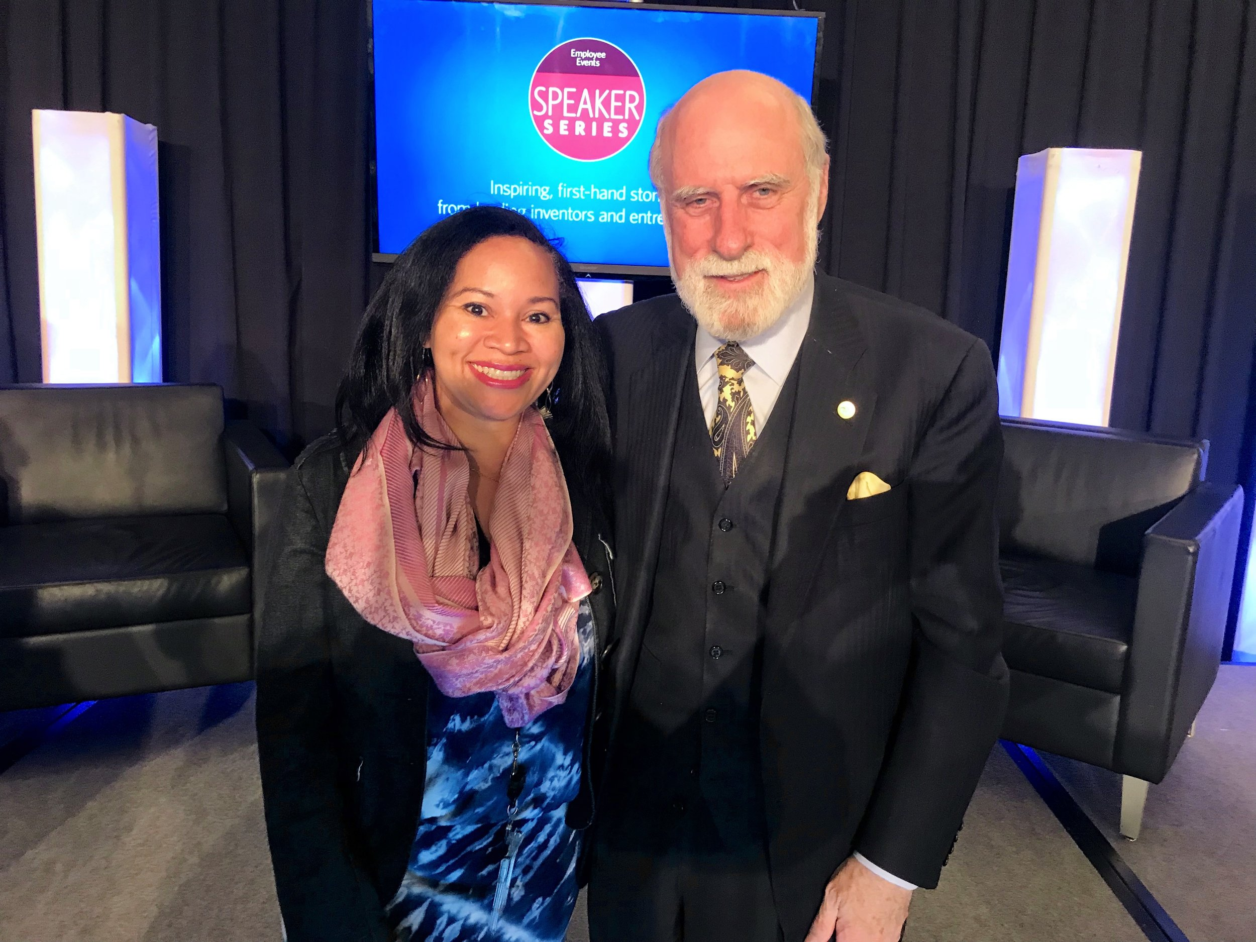 Tamra L. Dicus, California Is Me and Vint Cerf, a Father of the Internet
