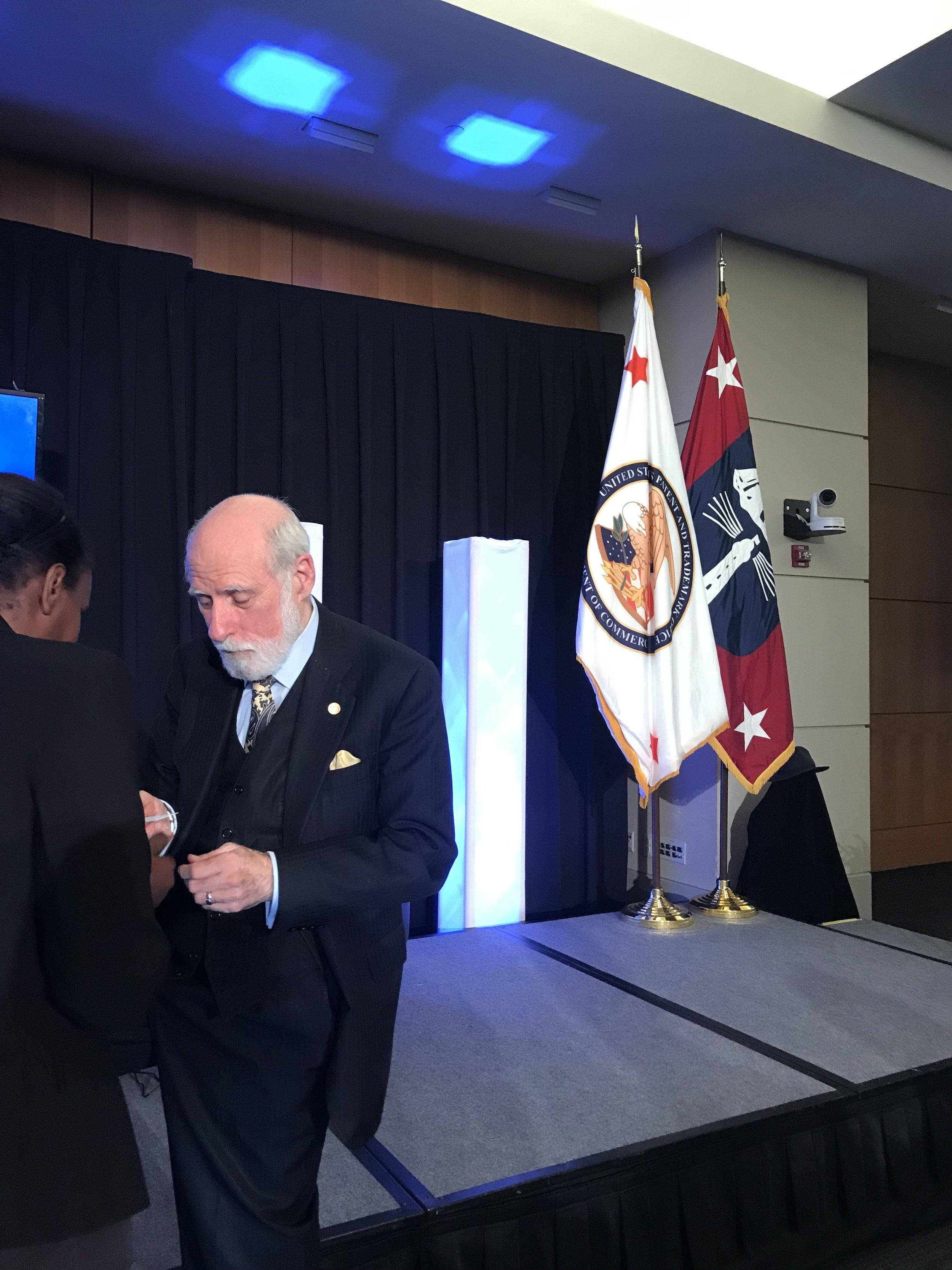Vint Cerf at USPTO, Alexandria, Virginia