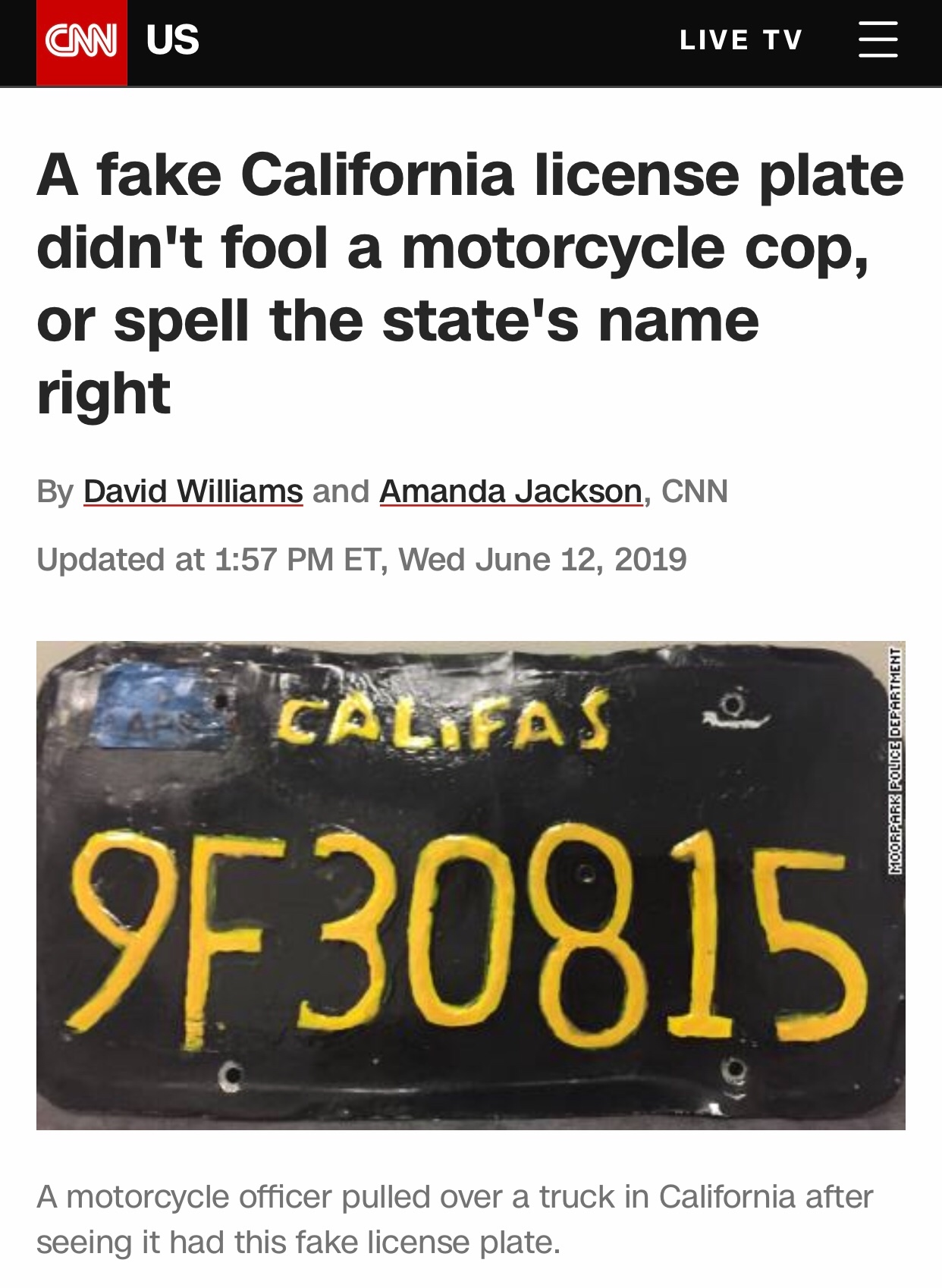 Originally sourced from CNN news article, David Williams and Amanda Jackson