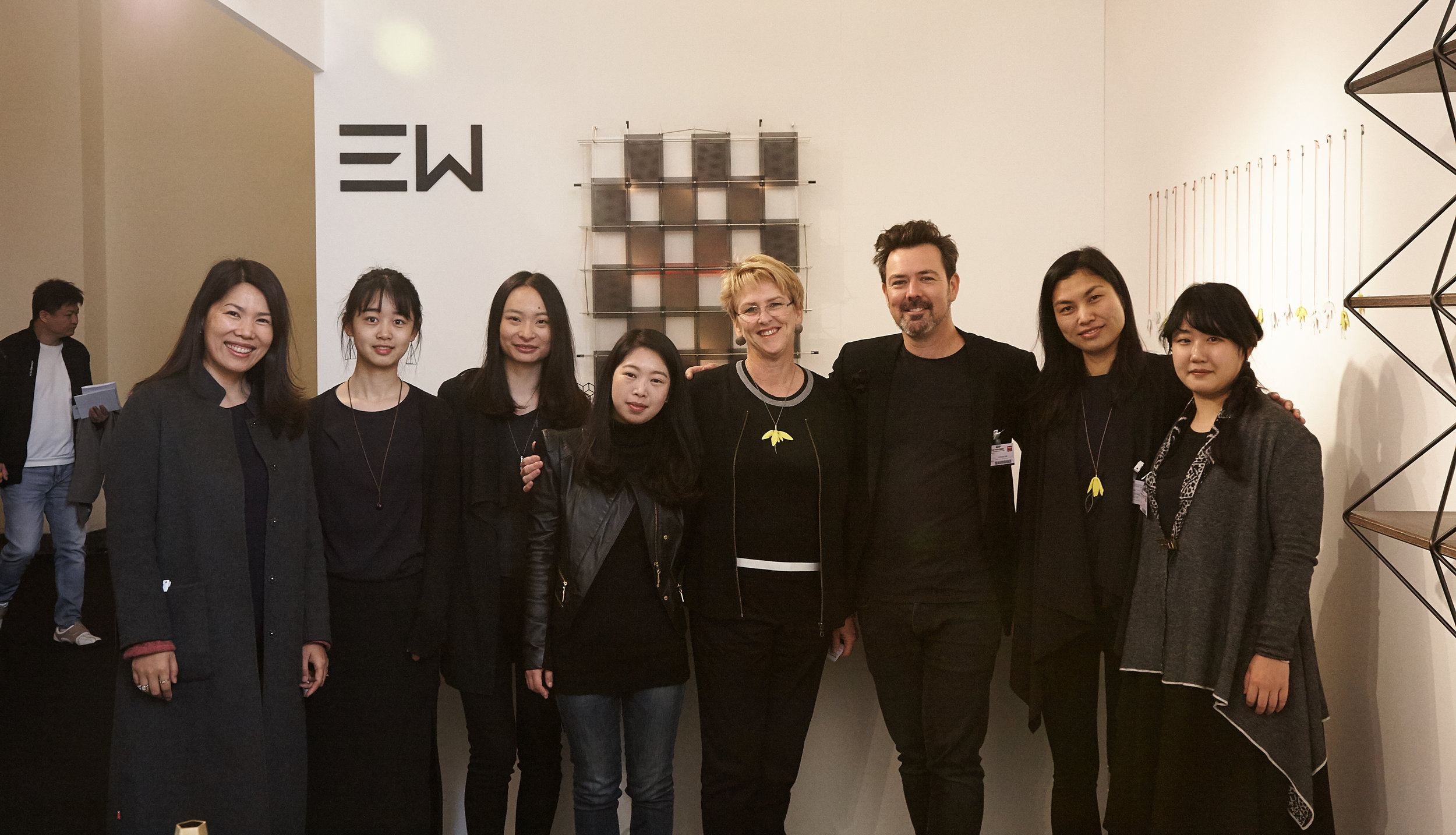 San W team from left to right; Yiwei Wu, . . . .  Ann Lei, Grace Fang Rae O'Connell, Christian Hall, Racheal Zhou and Lindsay Cheng