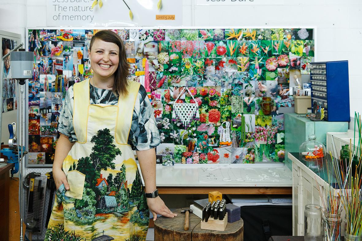 Jess Dare in her Adelaide studio
