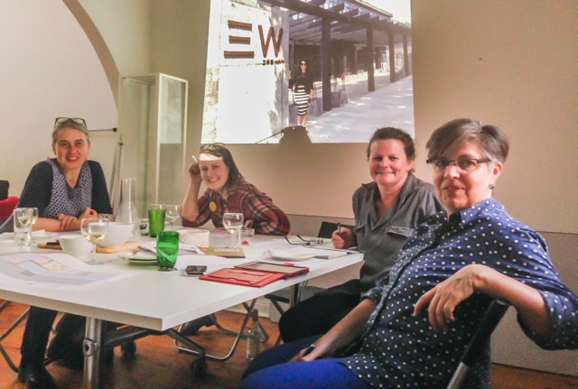 From left to right Kirsten Coelho (ceramics), Jess Dare (jewellery), Deb Jones (glass) and Sue Lorrain (jewellery).